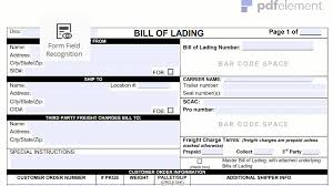 bill of lading printable form bill of lading form template free download create fill print