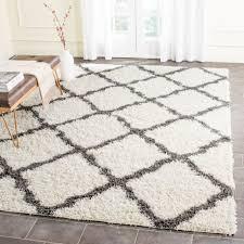 safavieh dallas ivory dark grey trellis rug 8 x 10 for