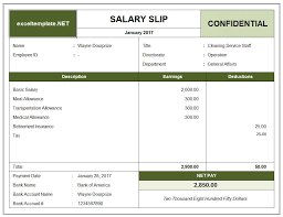 Monthly Salary Statement Salary Slip Excel Templates 20