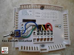 hunter 42999b digital rv thermostat upgrading the oem thermostat 4 Wire Thermostat Wiring hunter rv thermostat model 42999b fan switch 4 wire thermostat wiring diagram