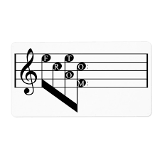 Muscial Staff Musical Staff Treble Clef To From Notes Gift Tag