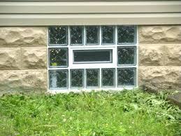 glass block basement windows window with an air vent large size regarding plan 24