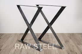 Edelstahl Tischbeine Metall Esstisch Beine 2er Set X Form Etsy