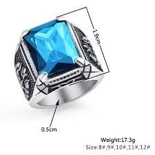 OBSEDE <b>New Fashion 316L Stainless</b> Steel Retro Geometric Men's ...
