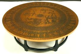 hammered copper end table round copper table leaf hammered copper coffee table simple great white brown