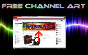 How To Make Free Channel Art - YouTube