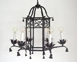 white lantern chandelier bamboo hollywood regency style faux bamboo paa chandelier at 1stdibs