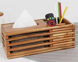 wooden home office. Wooden Home Office Desk Desktop Organizer Storage Box Tissue Holder Wooden Home Office