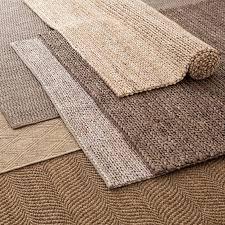 bleached jute rug in various color samples