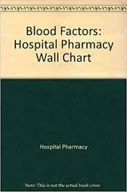 Blood Factors Hospital Pharmacy Wall Chart 9781574392661