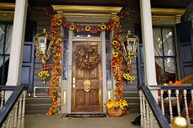 Decoration: Elegant Picture Of Fall Christmas Front Porch Decoration ...