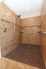 Handicap Tile Shower Designs Roll In Wheelchair Accessible Shower Grab Bars Tile Soap