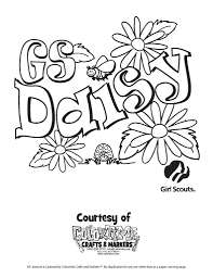 Girl Scout Daisy Flower Friends Coloring Pages