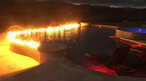 Barron Lighting Phoenix Az 50ft Infinity Edge Fire In Hawaii Barron G And Fire By