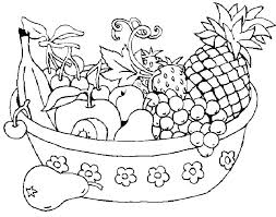 Fruit Colouring Pages Apple Coloring For Toddlers Color Fruits And