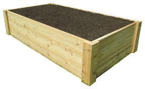 deep root cedar raised bed garden 3 x6