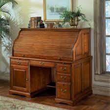 oak roll top computer desk