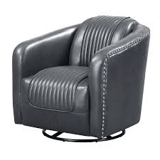 faux leather club chairs picket house furnishings swivel accent chair canada