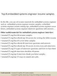 Systems Engineer Resume Examples Sample Of Embedded Hardware Design