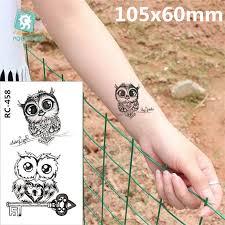 Body Art Vodotěsné Dočasné Tetování Papíru ženy Jednoduché 3d Cat