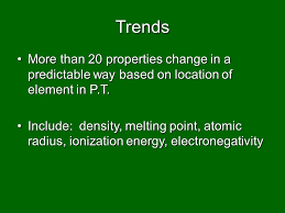Trends & the Periodic Table Ionization Energy, Electronegativity ...
