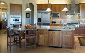 Island In Kitchen Kitchen Dining Curved Kitchen Island Makes Shape Accent In