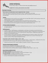 Resume Examples Part Time Job Awesome Music Teacher Resume ...