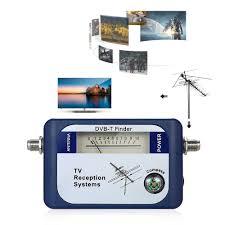 DVB T Vệ Tinh Kỹ Thuật Số Tín Hiệu Tìm Đo Trên Không Truyền Hình Mặt Đất  Anten Có La Bàn Tivi Tiếp Nhận Các Hệ Thống|Máy Đo Tần Số