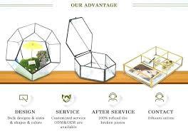 wedding decoration centerpieces holder vintage brass box pentagon display jewelry whole glass souvenir and