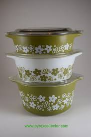 Pyrex Color Chart Pattern Spring Blossom Green 1 The Pyrex Collector