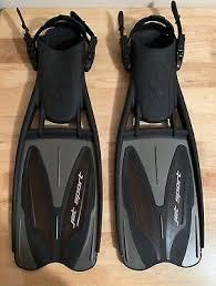 Scubapro Jet Sport Full Foot Fins Size Chart Scubapro Jet Sport Mens Full Foot Scuba Snorkel Fins New