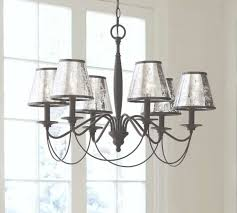 antique mercury glass chandelier shade set of 3 pottery barn pertaining to mercury glass