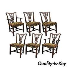 image is loading set of 6 vine chippendale gany ribbon back