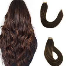 Dark Brown Hair Light Brown Balayage Misstar 20pcs 50g Bruntee Ombre Tape In Hair Extensions Dark Brown To Light Brown Balayage Real