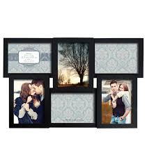 collage wall frame 6 5x7 openings dimensional black