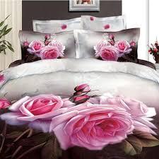 d bright pink rose bedding  cotton  duvet life