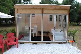 prefab shed office. Backyard Shed Office. At First It Looks Like A Regular Shed, But Just Prefab Office