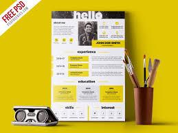 Creative And Elegant Resume Template Free Psd Psdfreebies Com