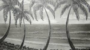 Disegni facili da copiare proposta matita bianco nero paesaggio grande palazzo alberi intorno disegni a matita disegni facili disegni. Disegni Facili Da Disegnare Matita Paesaggio Mare Esotico Quattro Palme Primo Piano Cielo Sereno Sfondo Disegno Realistico Idee Per Disegnare Disegni Di Alberi