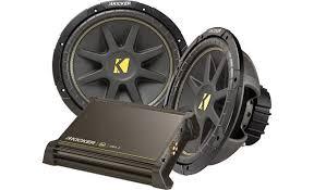 kicker 250 watt bass package package includes dx250 1 amp and two kicker 250 watt bass package front