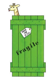 dear zoo giraffe in crate