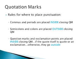 Punctuation Inside Quotes Best Quote Ideas 2019