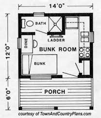 tiny house plan. Town And Country Plans - Kenora. Small Cabin House Tiny Plan