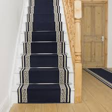 image of navy stair runners