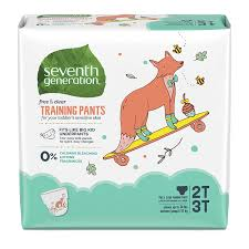Seventh Generation Baby Toddler Training Pants Medium Size 2t 3t 25 Count Pack Of 4 Packaging May Vary