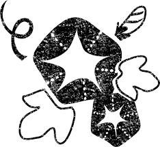 朝顔イラスト白黒無料素材