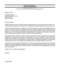 Elementary School Teacher Cover Letter Sample Application
