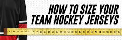 3xb Size Chart How To Use A Size Chart To Size Your Team Hockey Jerseys
