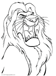 Lion King Coloring Printable The Lion King Coloring Pages Free 2