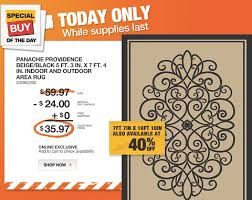 special of the day at the home depot